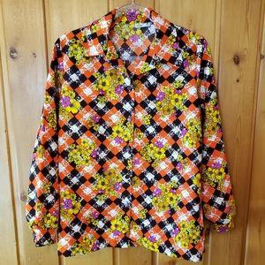 Lanie J Polyester Button-down Blouse